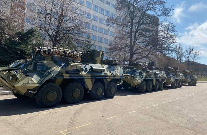 The National Guard of Ukraine received a batch of armored personnel carriers BTR-4E