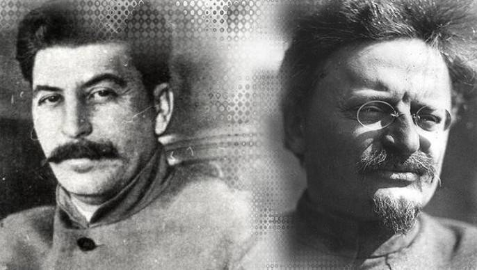 Military prose of Stalin and Trotsky