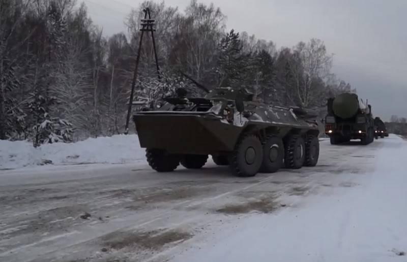 O Regimento das Forças de Mísseis Estratégicos, rearmado no Yars PGRK, assumiu o dever de combate