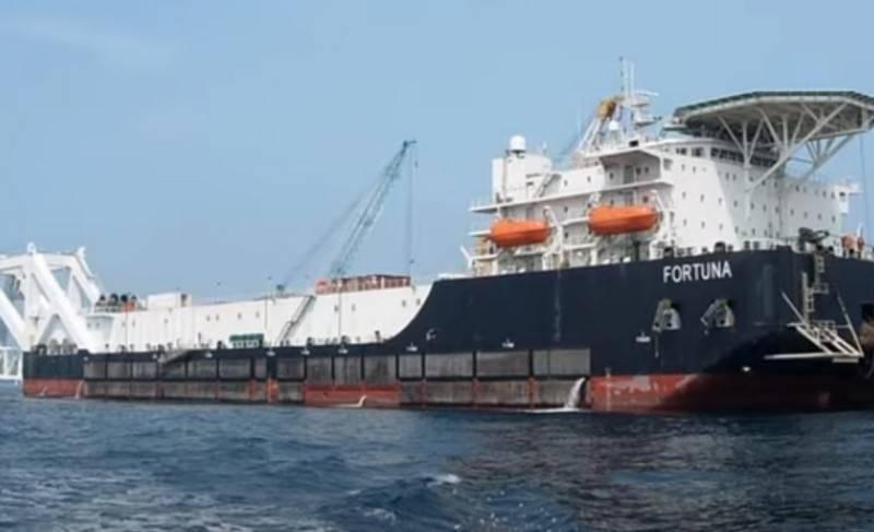 La barge de pose de canalisations Fortuna achève la construction de Nord Stream 2 change de propriétaire