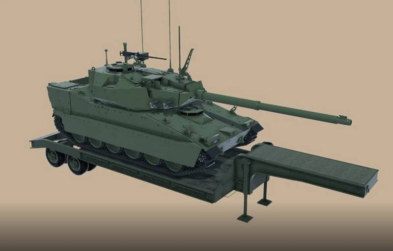 "BAE Systems Corporation showed the final look of the ""light tank"" developed under the MPF program"
