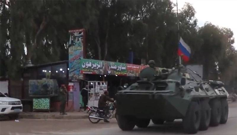 There was information about the advancement of a column of the Armed Forces of the Russian Federation in the direction of Ain Issa - Qamishli in Syria after the appeal of the Kurdish administration
