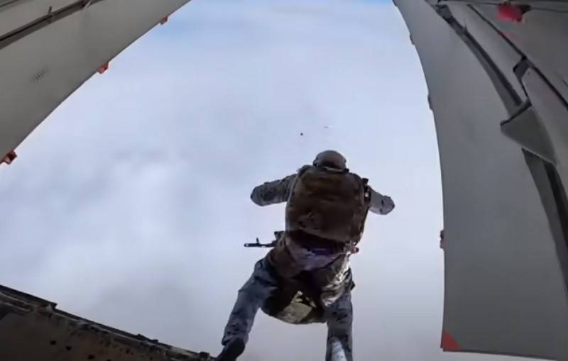Russian special forces received a new Stayer parachute system