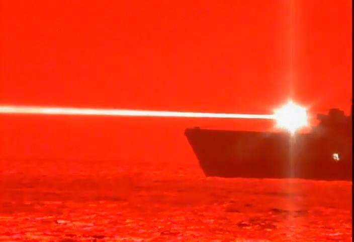 Anti-aircraft and blinding.  Projects of naval combat lasers for the US Navy