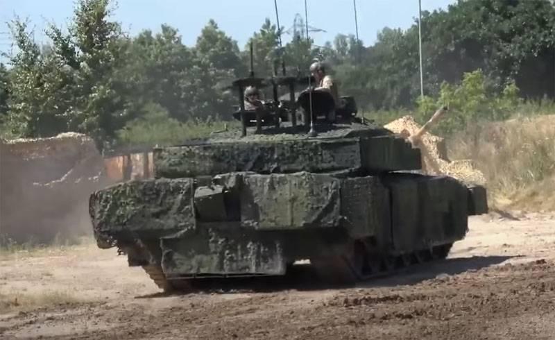 В Британии: Многооттеночный цифровой камуфляж верхней проекции танка позволит снизить уязвимость от БПЛА
