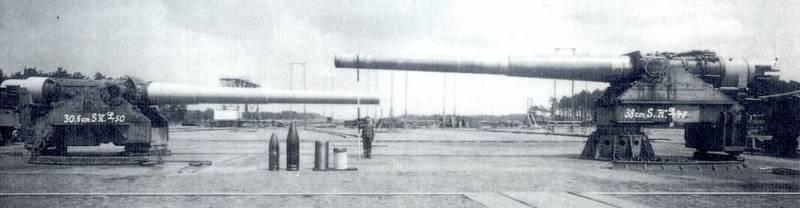 Российские и германские крупнокалиберные морские пушки эпохи Первой мировой войны