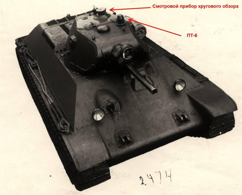 Об эволюции приборов наблюдения и управления огнем Т-34-76