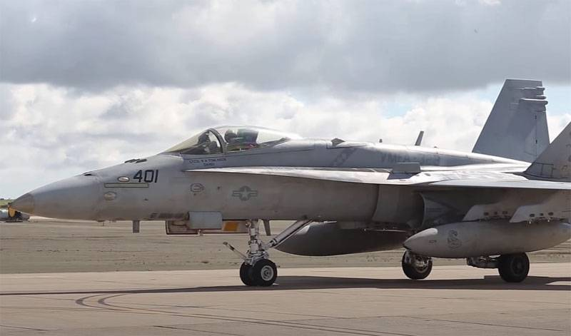 In the USA, India demonstrated the ability of the F / A-18 Super Hornet fighter to take off from a springboard