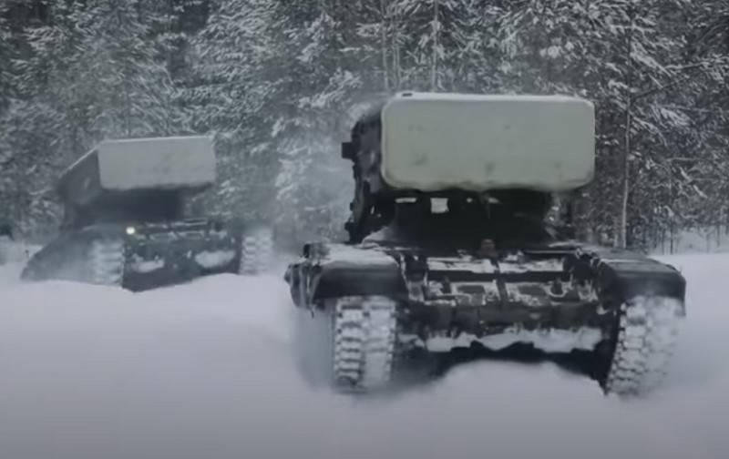 """국방부는 TOS-1A """"Solntsepёk""""대형 화염 방사기 시스템의 현대화를 시작했습니다."""