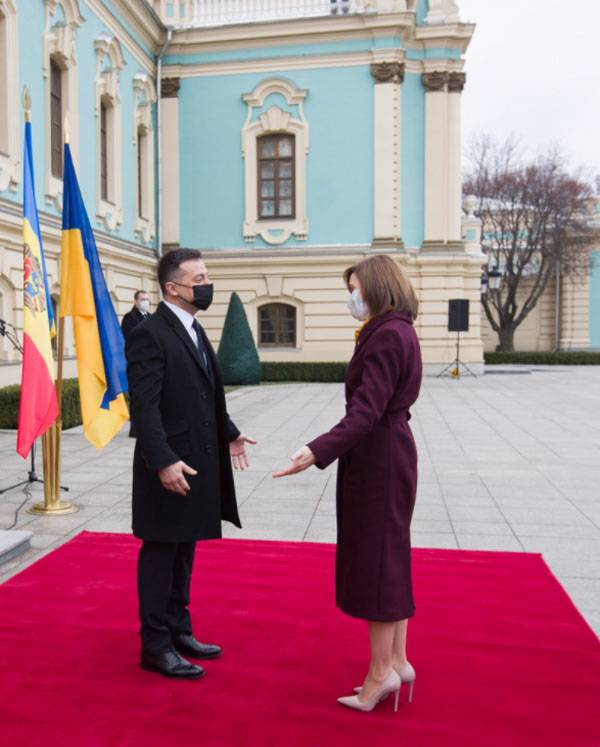 """""""We want to become part of the Trimorie initiative: Sandu, in the rank of President of Moldova, is making his first visit to Ukraine"""
