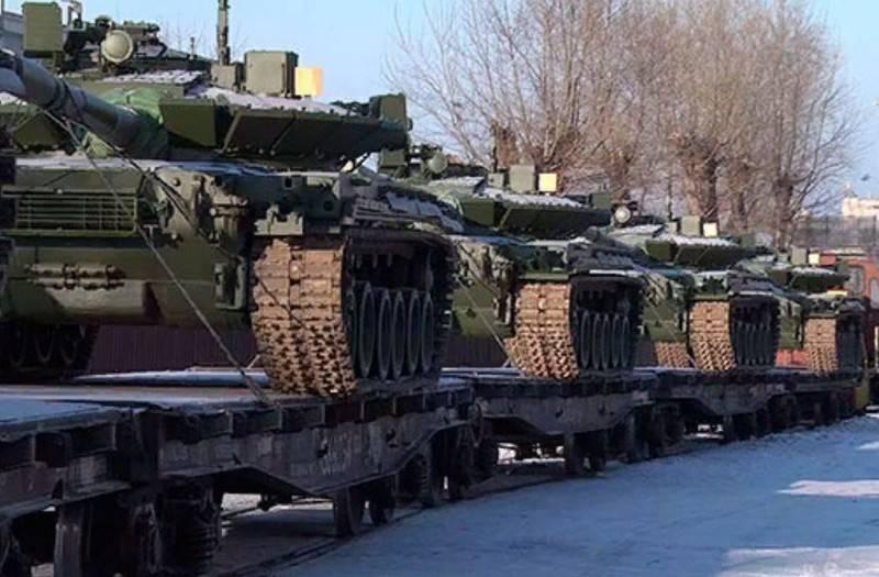 Il Ministero della Difesa ha ricevuto un nuovo lotto di carri armati T-80BVM modernizzati