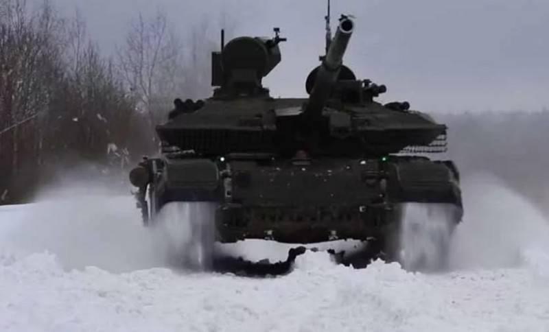 Российские танки Т-90М объединили в единую сеть на учениях