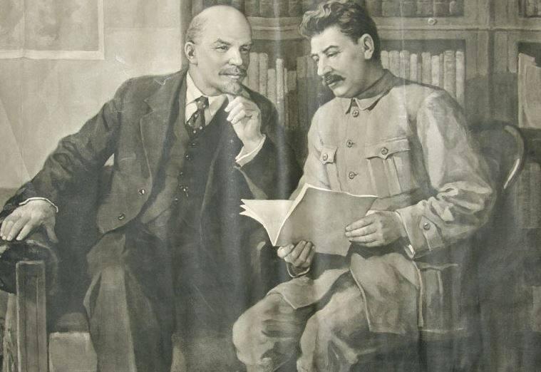 """""""위대한 러시아 Derzhimords""""스탈린과 Dzerzhinsky. 소련 국가의 형태에 대해 전우들과 레닌의 논쟁"""