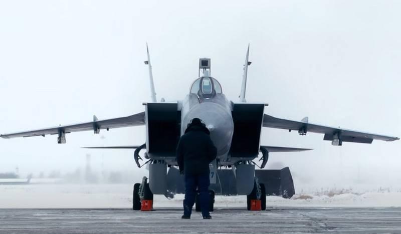 उत्तरी बेड़े के उच्च ऊंचाई वाले इंटरसेप्टर मिग -31 बीएम नोवाया ज़म्लिया से आर्कटिक को नियंत्रित करेंगे