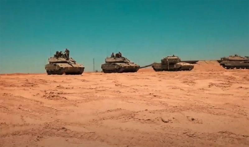 """Israel utilizó tanques """"Merkava"""" para bombardear el territorio de la Franja de Gaza"""