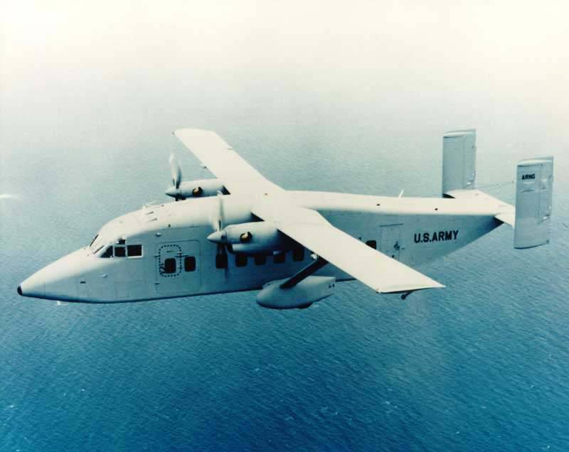 An airplane for its niche. Short C-23 Sherpa