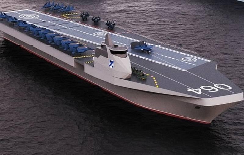 """Une esquisse d'un porte-avions prometteur du PKB Nevsky a été qualifiée de """"fantasmes"""" dans la presse américaine."""