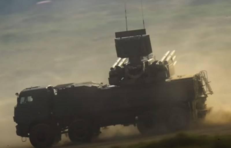 "Syrian anti-aircraft missile system ""Pantsir-S"" intercepted the Israeli high-precision bomb GBU-39"