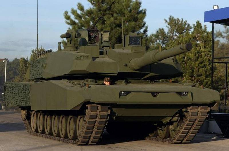 Chassis from Leopard 2A4: Turkey presented a variant of the Altay tank