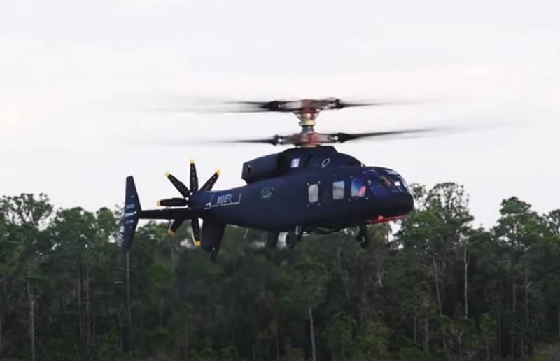 अमेरिकी हाई-स्पीड हेलीकॉप्टर एसबी -1 डिफाइनेंट ने फिर से डिजाइन किया