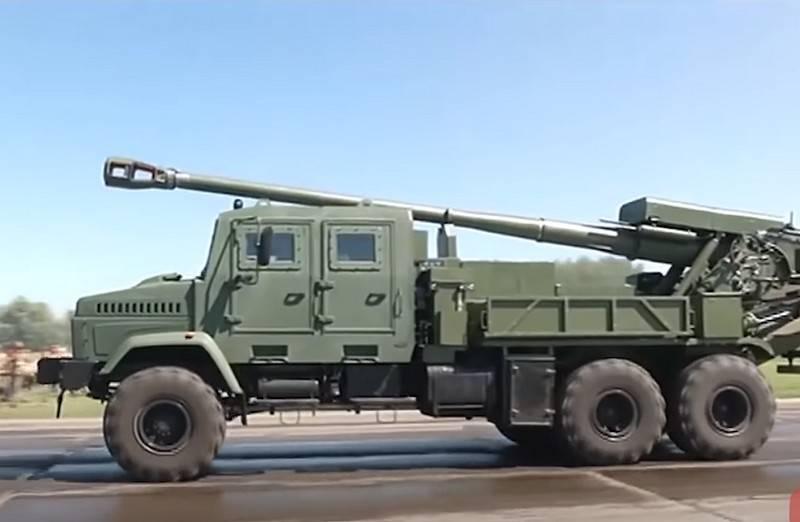 """우크라이나 국방부는 바퀴 달린 자주포 """"Bogdana""""시험을 시작할 계획입니다."""