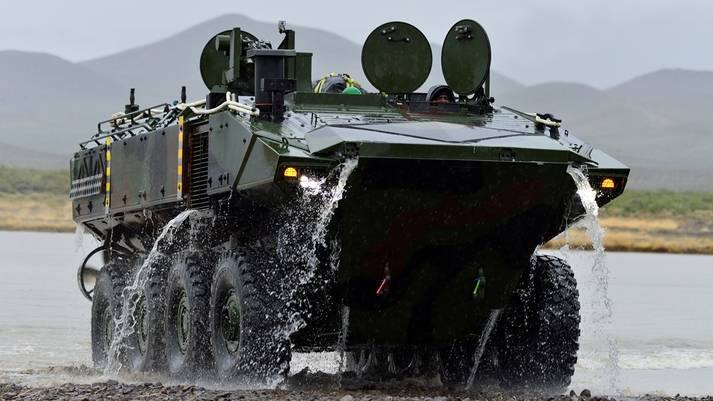 Amphibious ACV in operational tests