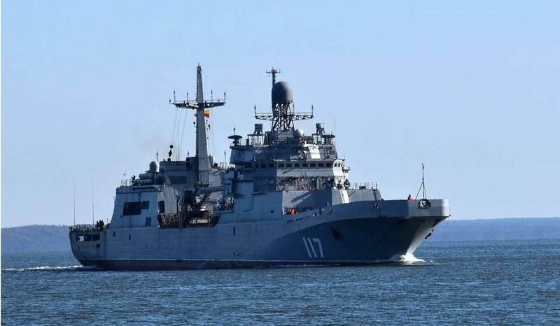 """大型登陆艇"""" Pyotr Morgunov""""完成了向北方舰队的过渡"""