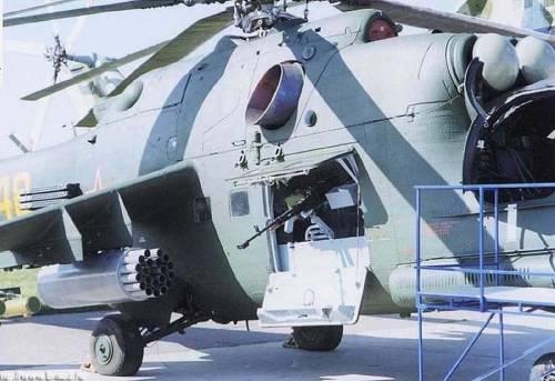 mi-24 with a machine gun