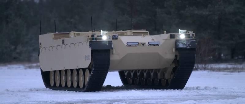 Робототехническая платформа Milrem Type-X вышла на испытания