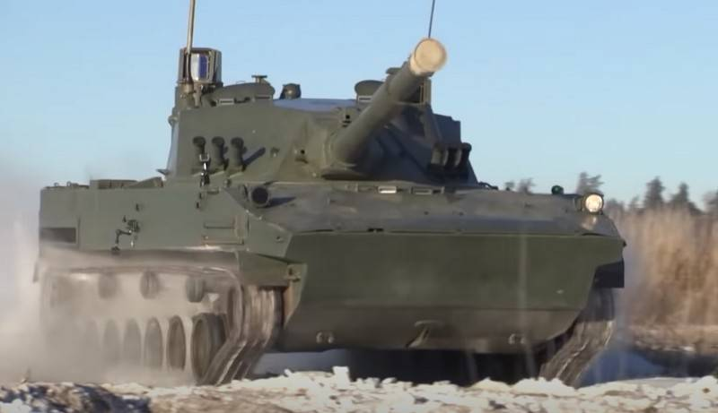 """Light amphibious tank """"Sprut-SDM1"""" will be tested in low temperatures"""