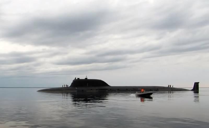 """핵 잠수함 """"Severodvinsk""""가 """"Caliber""""에 의해 지상 목표물에 발사되었습니다."""