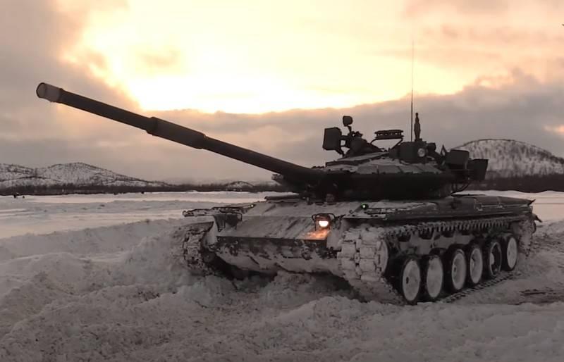 Nos EUA, falou sobre o futuro destino do tanque russo T-80