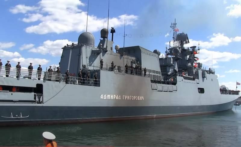 """Eine Abteilung von Schiffen der Schwarzmeerflotte traf in Pakistan ein, um an den Marineübungen """"Aman-2021"""" teilzunehmen"""