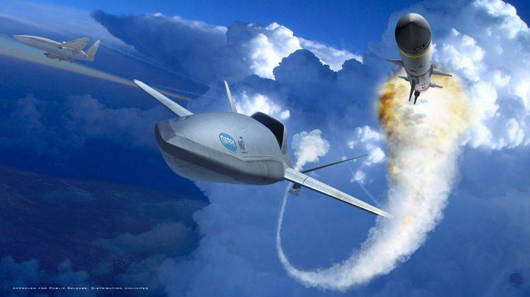 DARPA LongShot program.  A drone to help a fighter