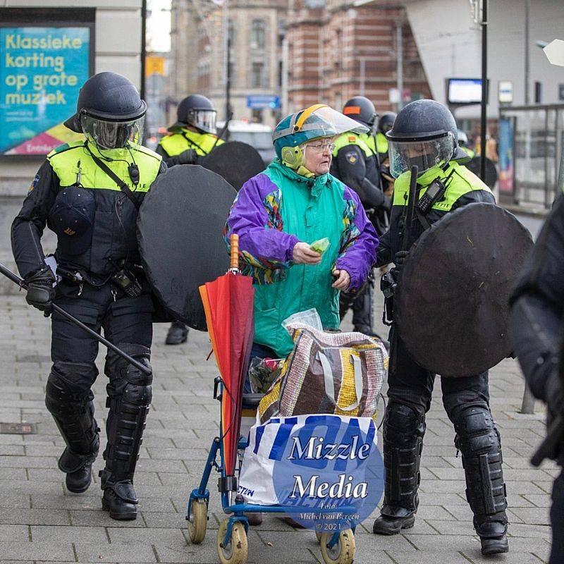 시위대에 대한 고리 버들 방패
