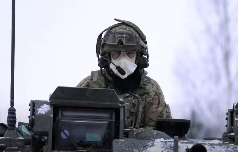Британские военнослужащие провели учения в условиях «суровой эстонской зимы»