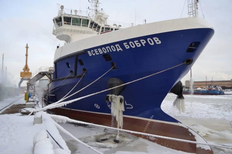 """Foi anunciado o momento do lançamento do navio de apoio logístico """"Vsevolod Bobrov"""" para testes de mar"""