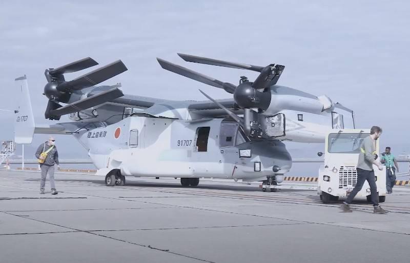 Japón recibió el segundo lote de rotores basculantes estadounidenses V-22B Block C