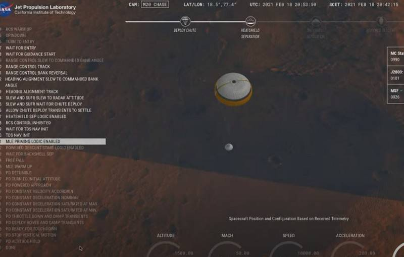 American Mars rover Perseverance makes a successful landing on the surface of the Red Planet