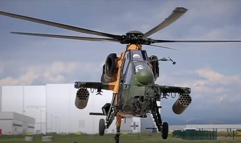 トルコの警察はT129ATAKFAZ-2攻撃ヘリコプターで武装しています