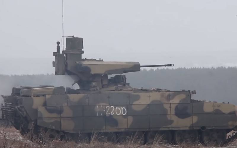 "The timing of the start of state tests of ""smart"" shells for the BMPT ""Terminator"""