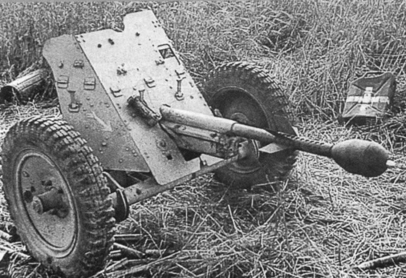 Использование трофейных немецких противотанковых орудий