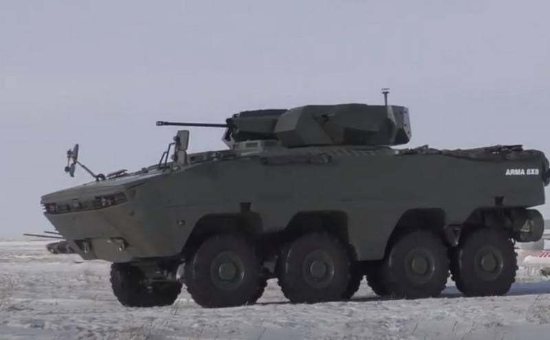 El ejército kazajo continúa probando el vehículo blindado turco ARMA-8x8