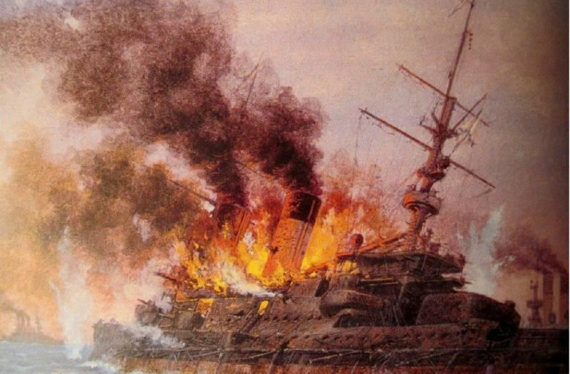 Цусима: пожары
