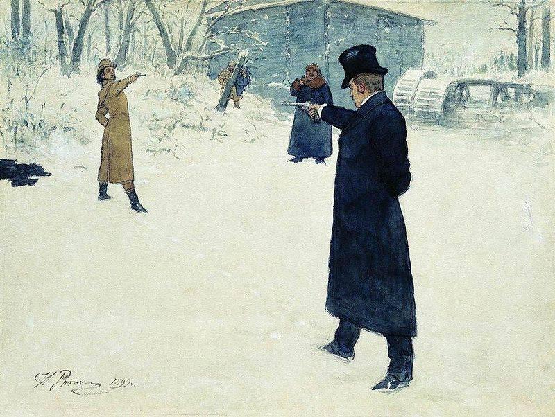 Duelle und Duellpistolen A. S. Puschkin
