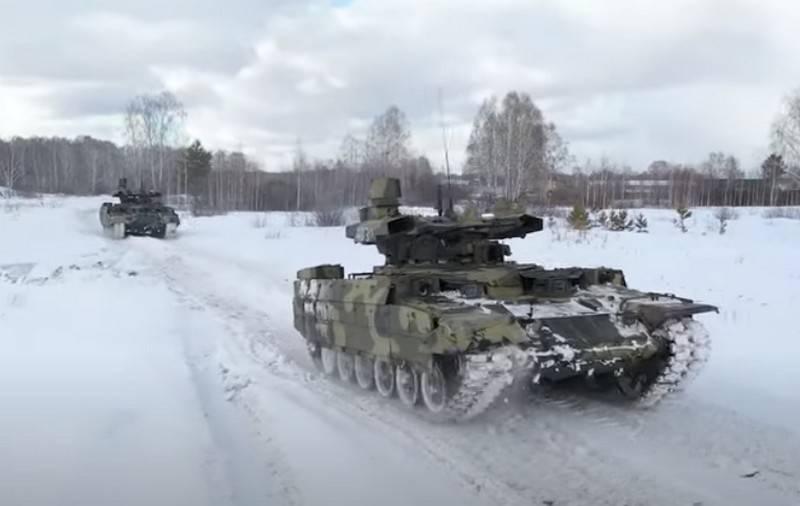 БМПТ «Терминатор» и танки Т-72Б3 впервые отработали взаимодействие в наступлении
