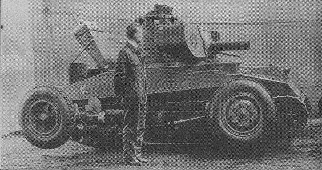 스웨덴의 바퀴 달린 궤도식 탱크의 짧은 역사