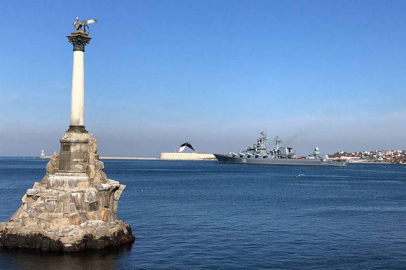 黒海艦隊の旗艦である巡洋艦モスクバが演習に参加しました