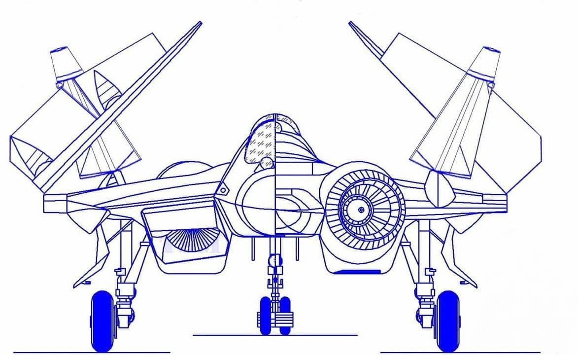 Figura. 2 Ecco come potrebbe essere il futuro Su-57K