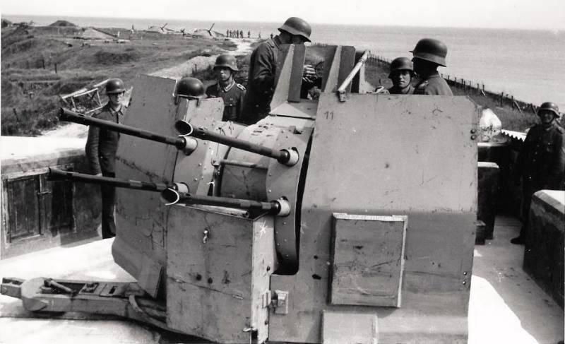 Использование трофейных немецких 20-мм зенитных автоматов